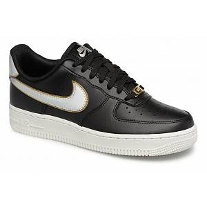 Nike Chaussure Air Force 1'07 Metallic pour Femme - Noir - Taille 36.5