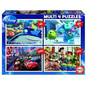 Educa Coffret de 4 puzzles Disney 50,80,100 et 150 pièces
