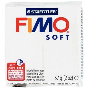 Fimo Pate a cuir Soft 58 g / Blanc Ecole