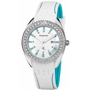 Orphelia OR22171151 - Montre Femme - Quartz Analogique - Cadran Multicolore - Bracelet Silicone Blanc