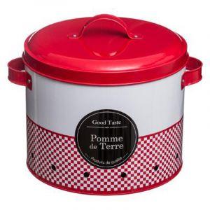 Five Boîte à pomme de terre en métal - 26 x 23 x 22 cm - Rouge