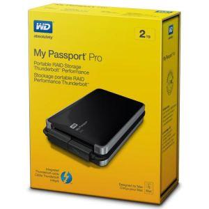 "Western Digital WDBRMP0020DBK - Disque dur externe My Passport Pro 2 To 3.5"" RAID Thunderbolt 5400 rpm"
