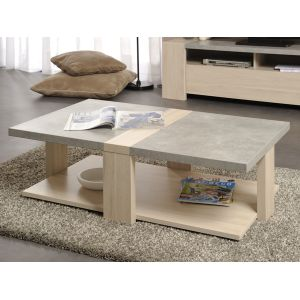 Rectangulaire Chene Elfy Basse Table Zago En LR53j4Aq