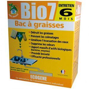 Ecogene Bio7 spécial graisses - 6 doses - Nettoyant sanitaire