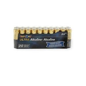 20 piles alcaline AA (LR06)