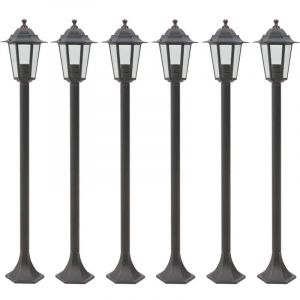 VidaXL Lampe de jardin à piquet 6 pcs E27 110 cm Aluminium Bronze