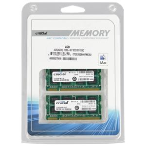Crucial CT2C2G2S667MCEU - Barrette mémoire 2 x 2 Go DDR2 667 MHz 200 broches