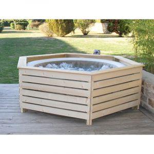 Aquazendo Habillage en bois spa gonflable Intex