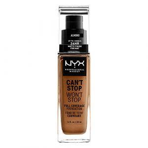 NYX Cosmetics Can't Stop Won't Stop - Fond de Teint Liquide Couvrant Tenue Waterproof, Fini Mat - Almond - 24 h