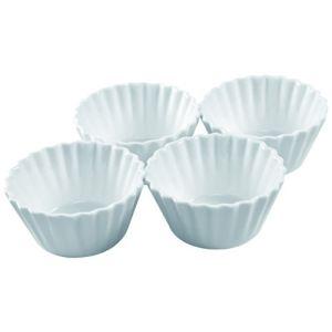 A-0728 - 4 moules à cupcake en porcelaine