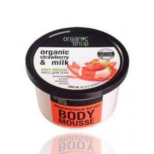 Organic Shop Mousse corporal fresa orgánica & leche