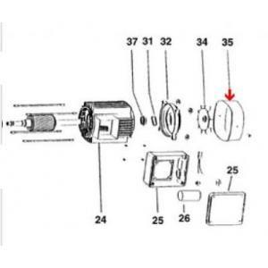 Procopi 976524 - Couvercle de ventilateur de surpresseur Tema 1000