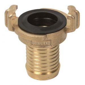 Ribimex Raccord pompier laiton cannelé diam 38 mm -