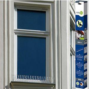 Easy life Pic Anti Oiseaux en PVC 200 cm avec 60 Pics en Acier Inoxydable résistant aux intempéries - Dispositif Anti-nuisibles, Anti-Pigeons, Anti-mouettes