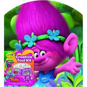 Crayola Mallette créative Trolls (40 pièces)