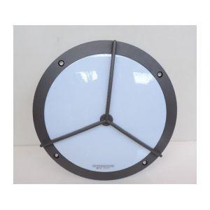 Trajectoire Hublot extérieur Ø 300mm gris anthracite polycarbonate pour 2 lampes E27 230V (non incl) IK08 IP54 EGG2 002297