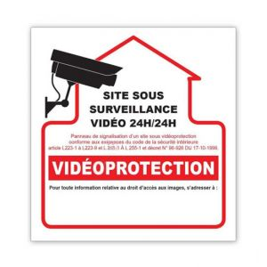 Image de Autocollant Videoprotection 10x10cm reference : G273945