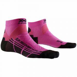 X-Socks Run Discovery Chaussettes course à pied Femme, flamingo pink/opal black EU 39-40 Chaussettes de compression