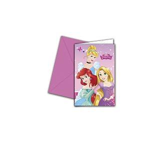Procos 6 invitations & enveloppes Disney Princesses