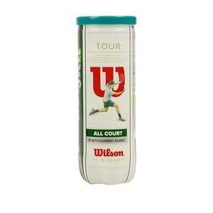 Wilson Balles de Tennis, Tour All Court, Lot de 3 balles, Toutes Surfaces, Jaune, WRT106300