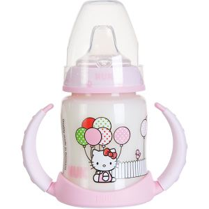 Nuk 710304 - Biberon d'apprentissage Hello Kitty 150 ml avec tétine en silicone