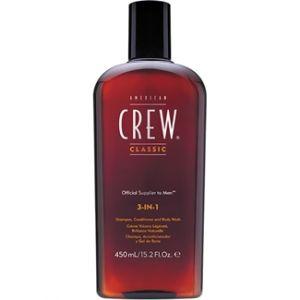 American Crew 3-en-1 - Shampooing, après-shampoing et gel douche