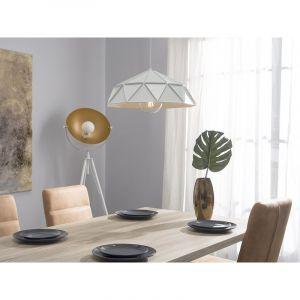 Beliani Lampe suspension blanc SENIA
