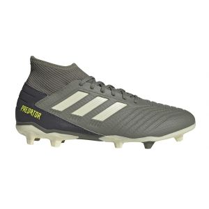 Adidas Predator 19.3 FG, Chaussures de Football Homme, Vert Legacy Green/Sand/Solar Yellow, 44 2/3 EU