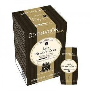 Destination Premium 10 capsules café Les Grands Crus Bio compatibles Nespresso
