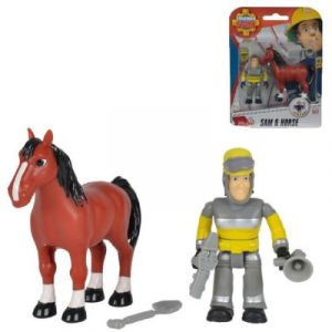 Smoby Figurines Sam le pompier Sam et cheval
