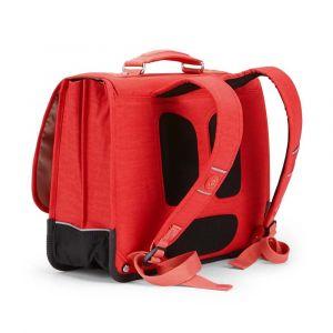 Kipling Cartable Poona M 41 cm du CE2 au collège Happy Red C rouge