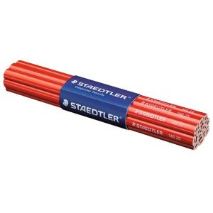 Staedtler 148 25 Charpenter Boîte de 12 Crayons graphite mine plate corps ovale longueur 25 cm