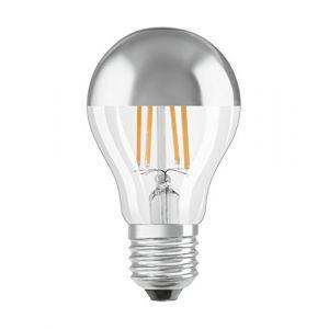 Osram 4058075810129 - Ampoule LED Filament Standard Calotte Argentée - 7W Equivalent 60W - Culot E27 - Blanc chaud 2700k - Lot de 6