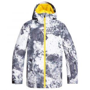 Quiksilver Mission-Veste de Ski/Snowboard pour Garçon 8-16 Ans, Castle Rock Splash, FR (Taille Fabricant : 14/XL)