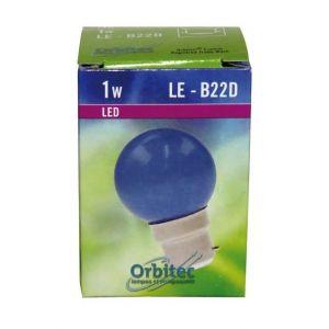 Orbitec LED sphérique B22D - pour guirlande - 45x70 - bleu