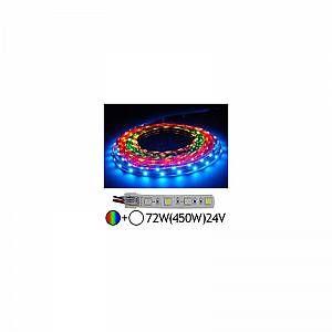 Vision-El Bandeau LED 72W (450W) 24V IP67 (Gaine silicone) RGB + Blanc jour