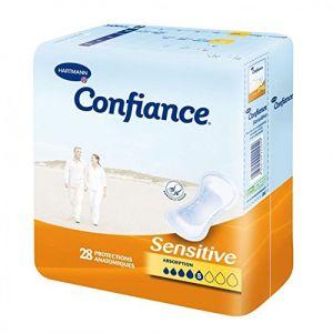 Hartmann Confiance Sensitive - Protection anatomique absorption (5 paquet 28 protections)