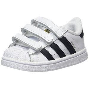 Adidas Superstar CF I, Chaussures de Fitness Mixte Enfant, Blanc (Ftwbla/Negbas 000), 24 EU