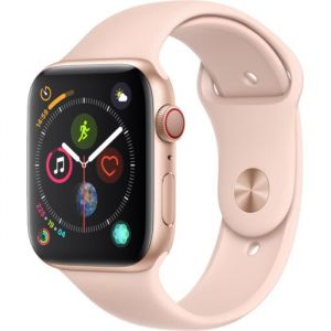 Apple Watch Series 4 Cellular 44 mm - Boîtier en Aluminium Or avec Bracelet Sport Rose des sables