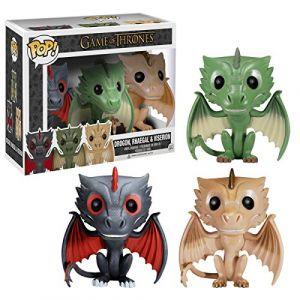 Funko 3 figurines Pop! Game Of Thrones Drogon, Rhaegal & Viserion