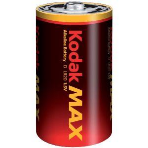 Kodak 2 piles alcalines D LR20 1.5V Max