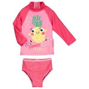 Petit Béguin Maillot de bain ANTI-UV 2 pièces t-shirt & slip bébé fille Fruity Party - Taille 24 mois (92 cm)