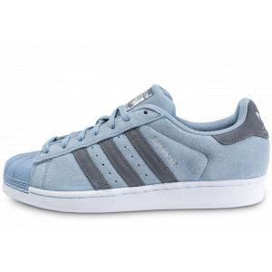 Adidas Superstar, Baskets Basses Homme, Bleu (Tactile Blue/Onix/Onix), 45 1/3 EU