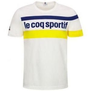 Le Coq Sportif T-shirt Tee shirt blanc jaune bleu Essentiel blanc - Taille EU XXL,EU S,EU M,EU L,EU XL