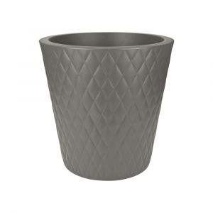 Elho Pure Straight Crystal 37 - Pot de fleur rond Ø37 x 35 cm