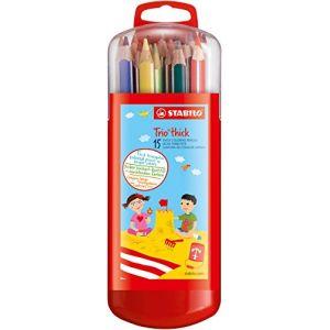Stabilo Trio - Etui de 15 crayons de couleurs
