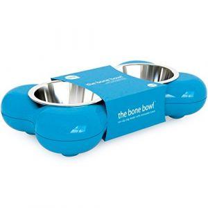 Hing Mangeoir pour chiens en forme d'os