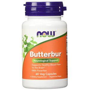 Now Foods Pétasite ( Butterbur ) avec Extrait de Grande Camomille - x60Vcaps