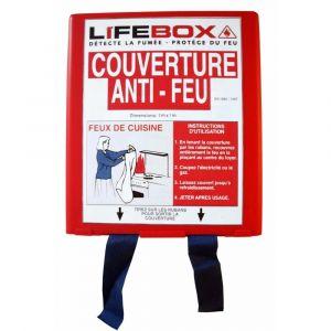 Lifebox Détecteur de fumée COUVERTURE ANTI FEU
