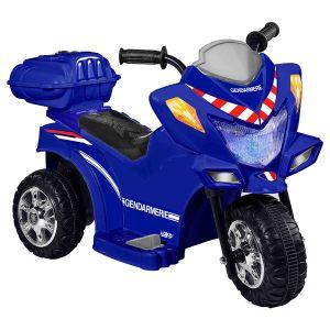 Logitoys Moto électrique Trimoto Gendarmerie